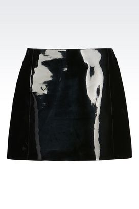 Armani Mini skirts Women runway skirt in vinyl