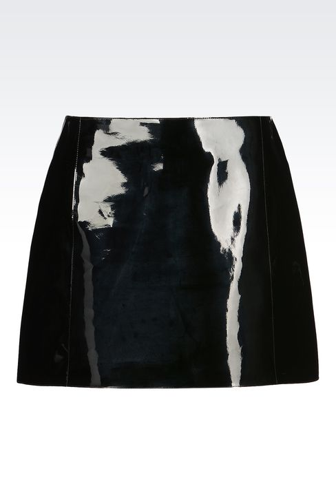 RUNWAY SKIRT IN VINYL: Mini skirts Women by Armani - 1