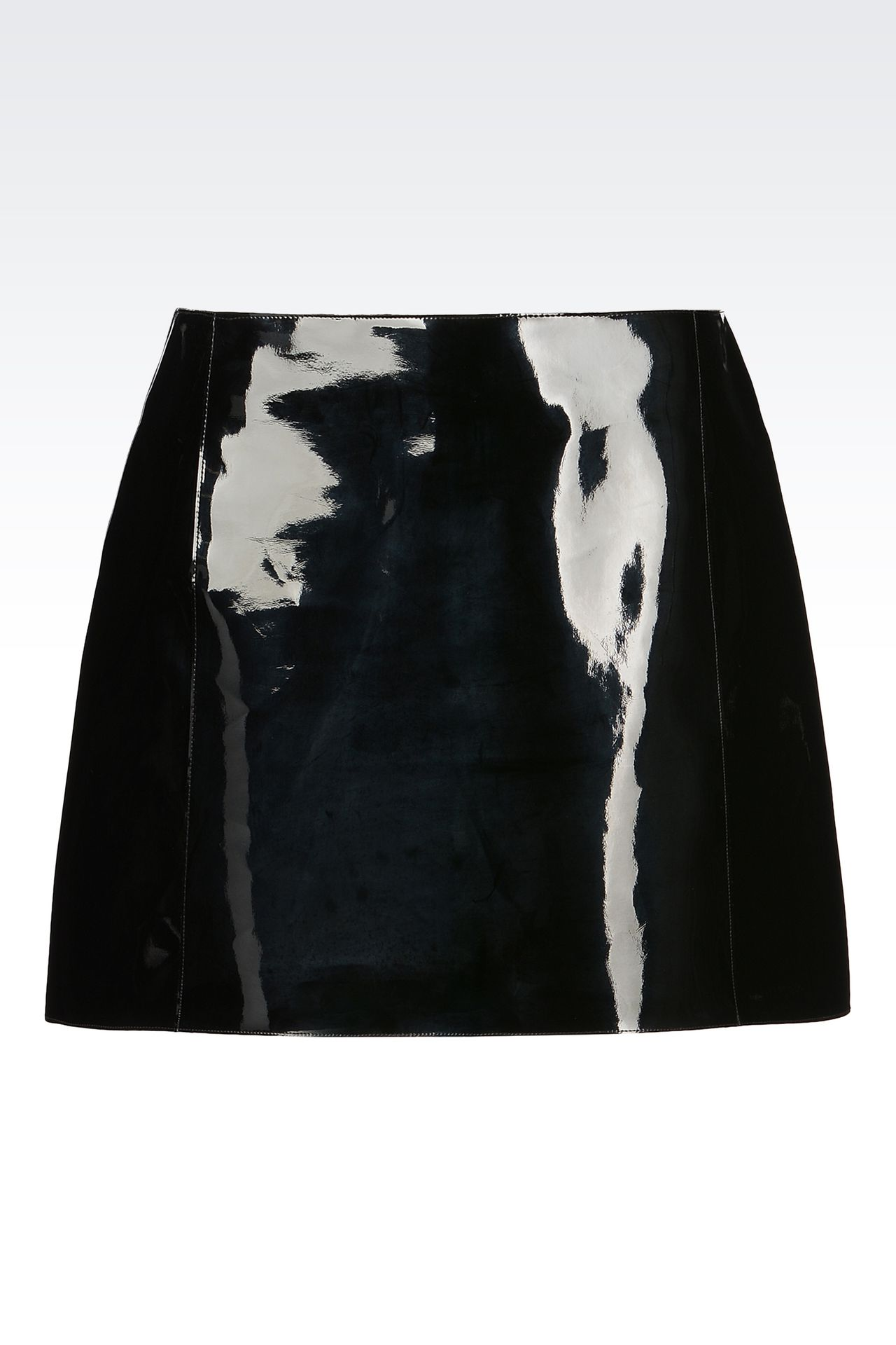 RUNWAY SKIRT IN VINYL: Mini skirts Women by Armani - 0