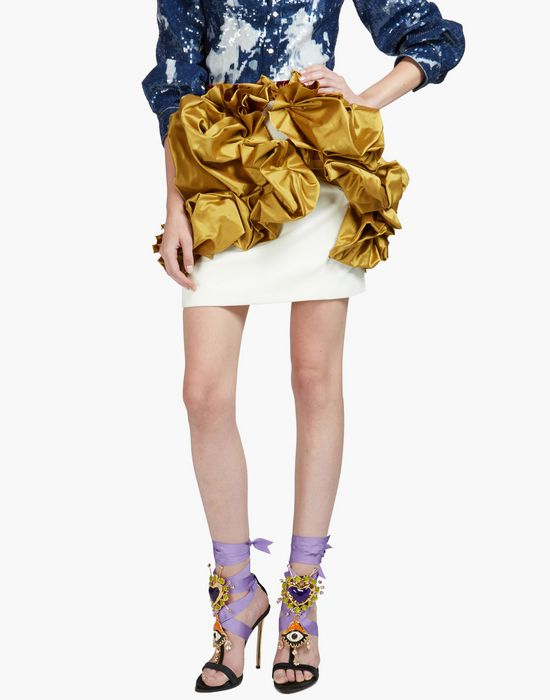 pencil skirt with ruffled bows skirts Woman Dsquared2