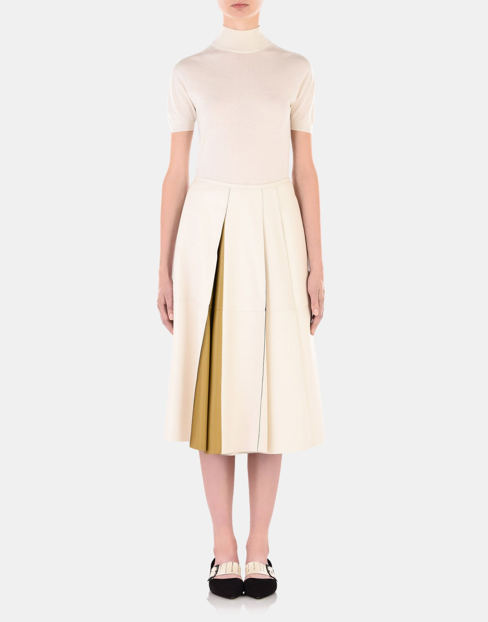 Leather skirt - JIL SANDER Online Store