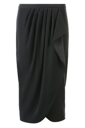 Armani 3/4 length skirts Women mid-length crepe skirt