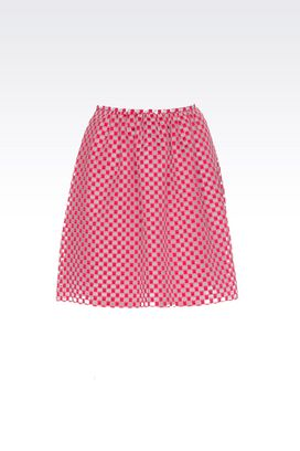 Armani Skirts Women checkerboard fil coupé organza skirt