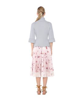 REDValentino PLEATED BOUQUET PRINT FAILLE SKIRT