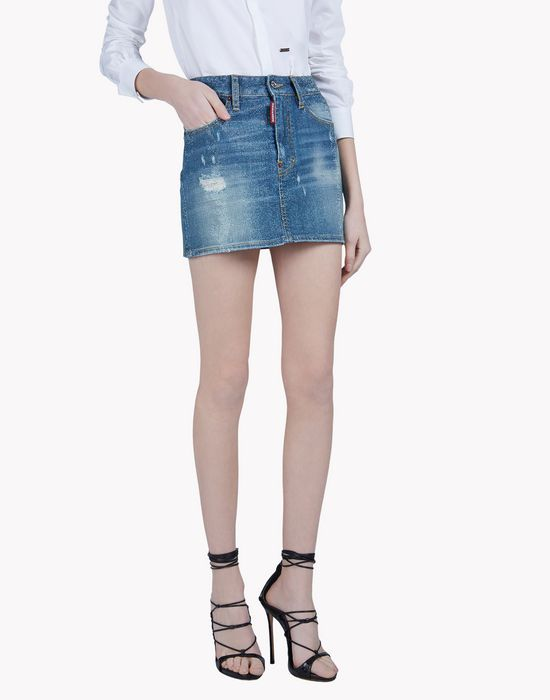 studded denim mini skirt jupes Femme Dsquared2