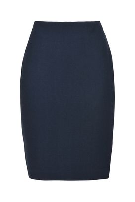 Armani Knee length skirts Women double wool crepe pencil skirt