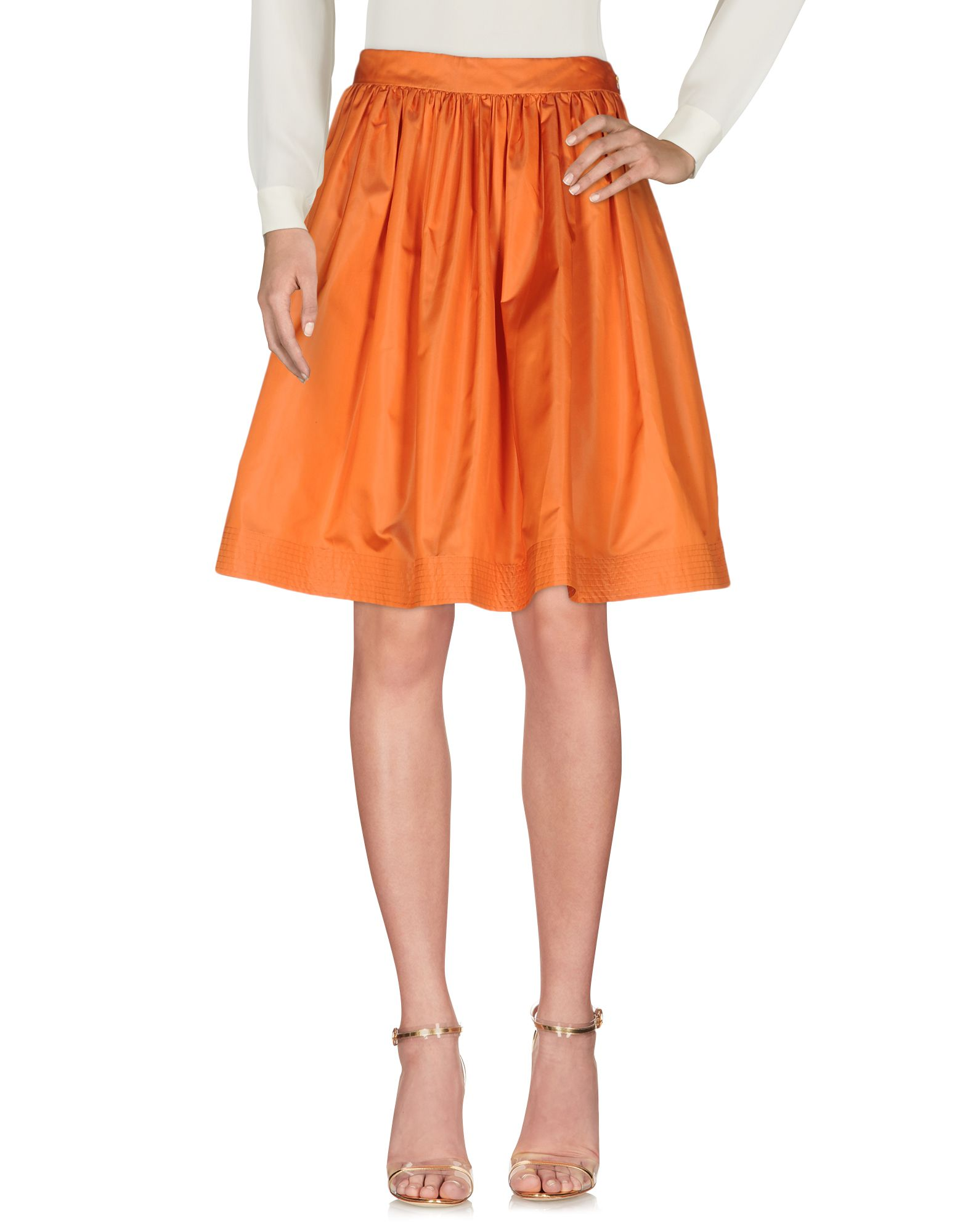 moschino female moschino knee length skirts