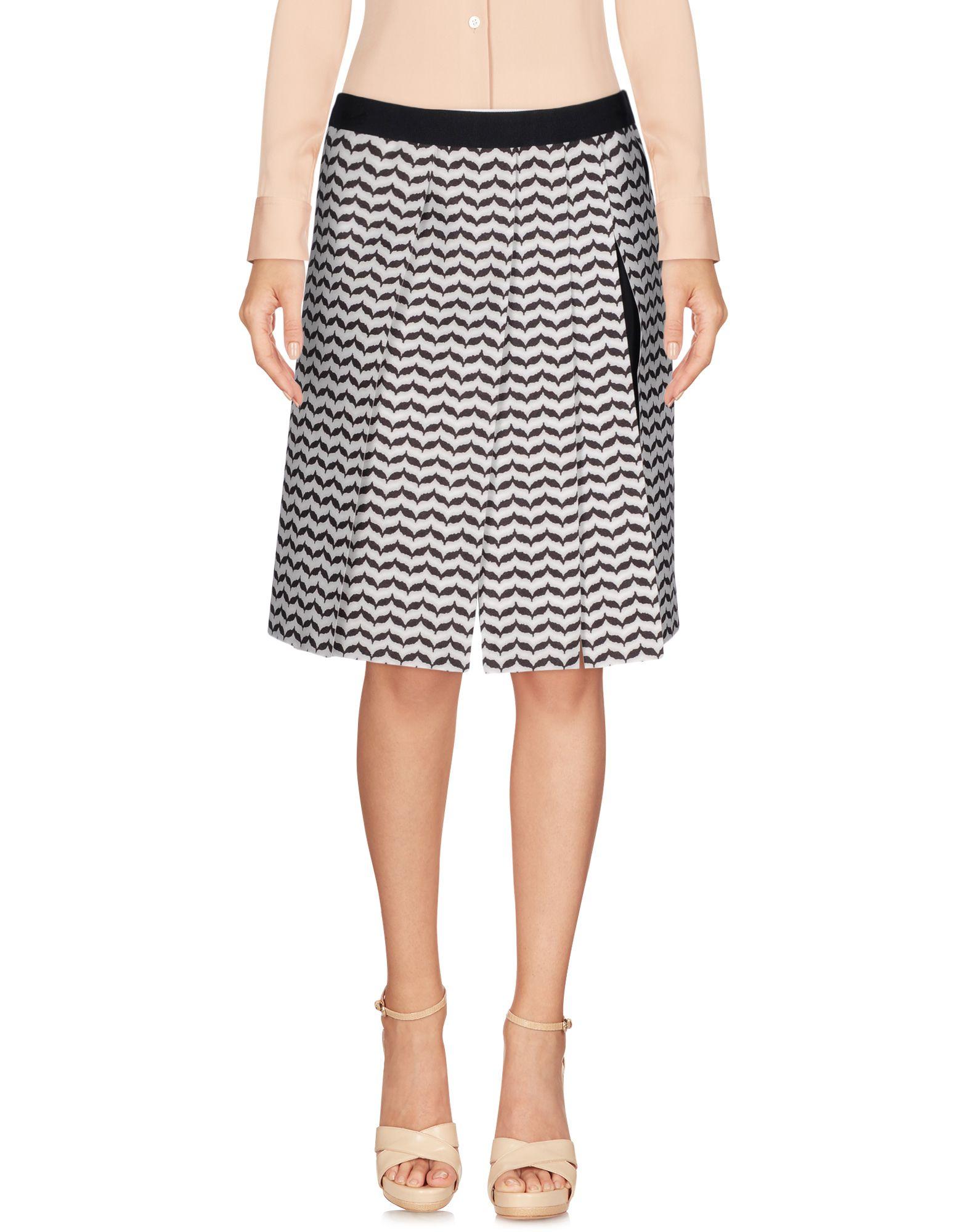 neil barrett female neil barrett knee length skirts