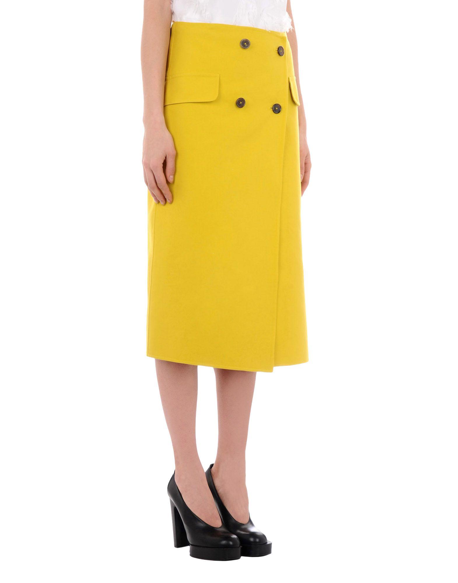 jil sander female jil sander 34 length skirts