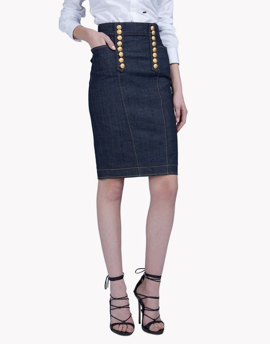 livery denim skirt jupes Femme Dsquared2