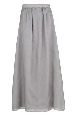 Armani Long skirts Women long silk organza skirt