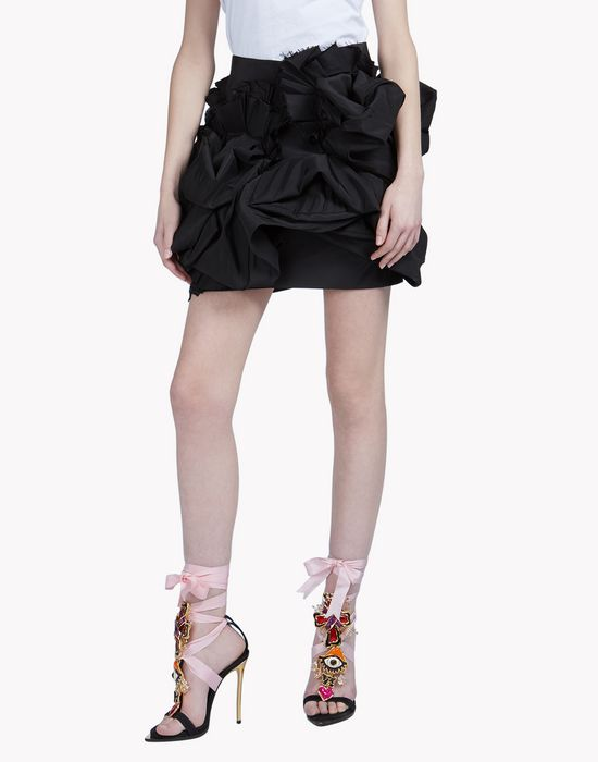 ruffled mini skirt gonne Donna Dsquared2
