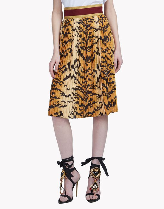 leopard pleated midi skirt jupes Femme Dsquared2
