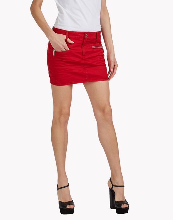 biker mini skirt skirts Woman Dsquared2