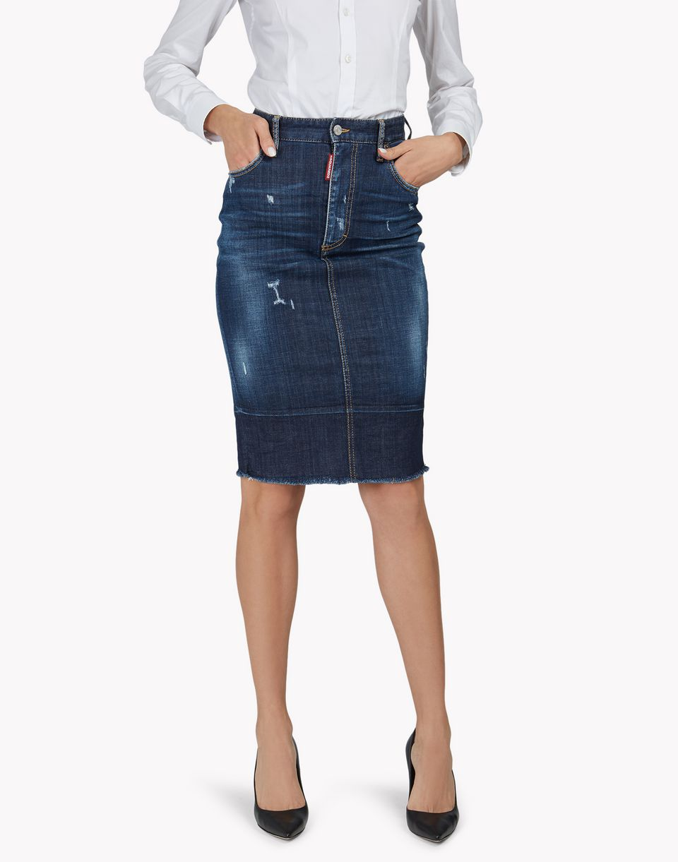 high rise denim skirt skirts Woman Dsquared2