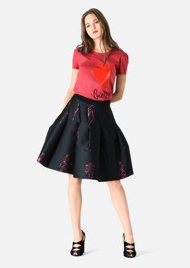 Armani Skirts Women silk blend skirt with lurex maquette motif