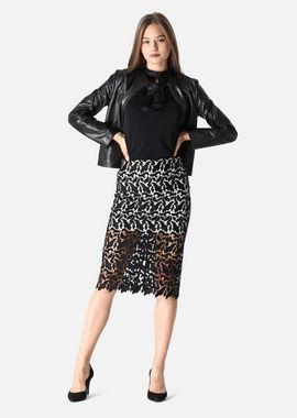 Armani Skirts Women knee length skirt in macramé