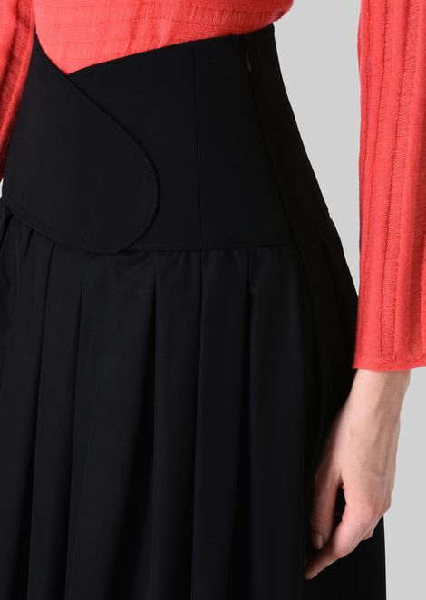 LONG SKIRT IN TECHNICAL CRÊPE DE CHINE.: Skirts Women by Armani - 5
