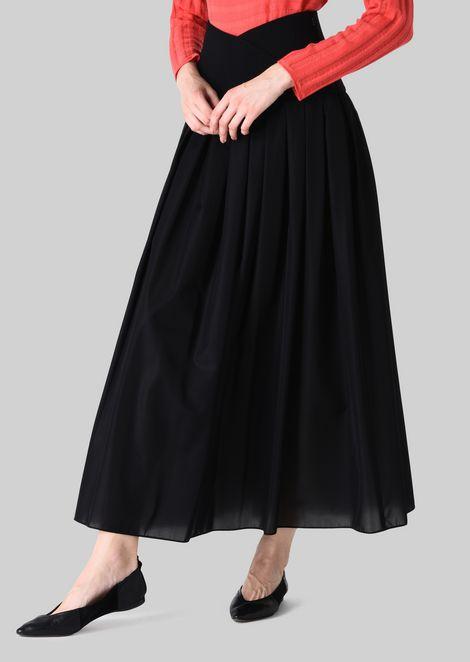 LONG SKIRT IN TECHNICAL CRÊPE DE CHINE.: Skirts Women by Armani - 3