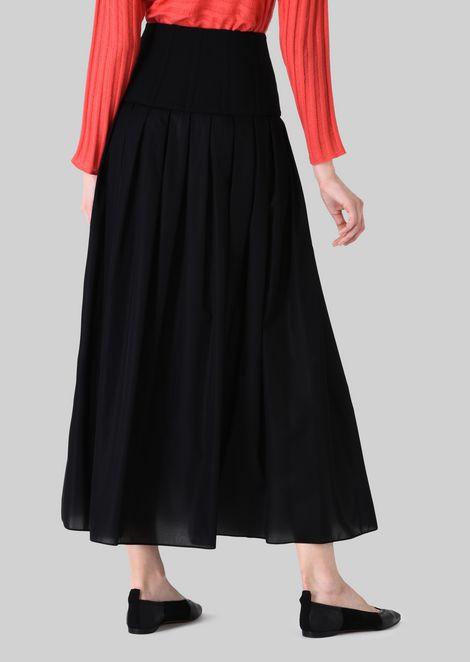 LONG SKIRT IN TECHNICAL CRÊPE DE CHINE.: Skirts Women by Armani - 4