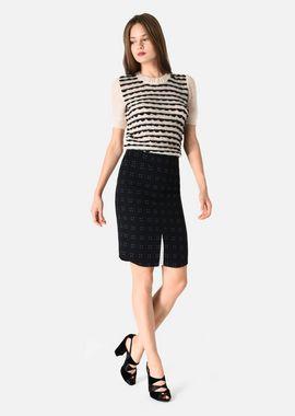 Armani Skirts Women stretch wool sheath skirt with pin dot motif