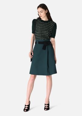 Armani Skirts Women stretch gabardine skirt with belt