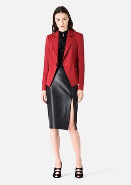Armani Skirts Women glove nappa and stretch lycra midi-skirt