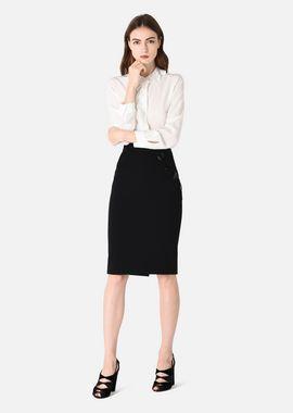 Armani Skirts Women stretch jersey piqué straight skirt