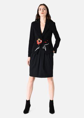 Armani Skirts Women stretch wool sheath skirt with front pleats