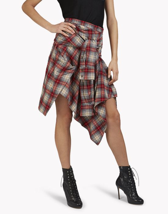 check flannel wrap skirt faldas Mujer Dsquared2