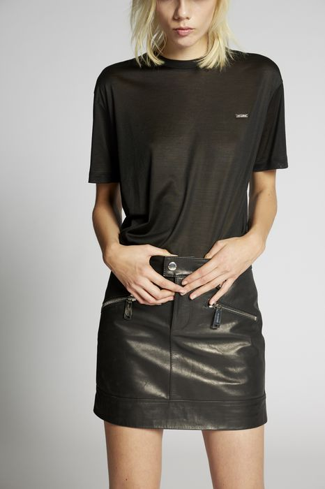 zipped pockets leather skirt skirts Woman Dsquared2
