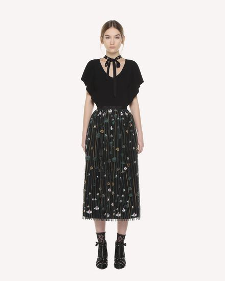 Garden of Metamorphosis embroidered Tulle skirt