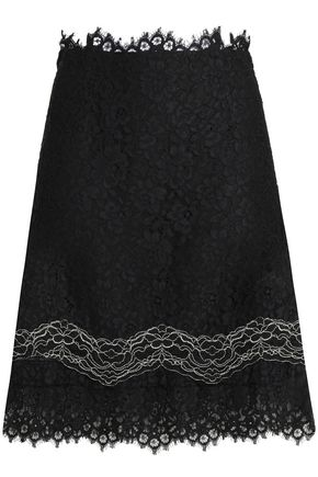 산드로 Sandro Corded lace mini skirt,Black