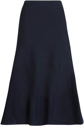 산드로 SANDRO Shane stretch-knit midi skirt,Navy