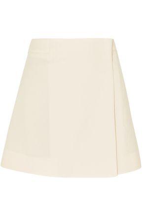 조셉 JOSEPH Wool and cotton wrap skirt,Ecru