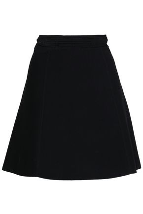 산드로 Sandro Stretch-knit mini skirt,Black