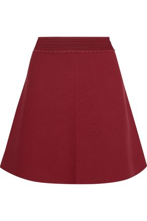 산드로 Sandro Stretch-knit mini skirt,Claret
