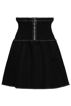 마쥬 MAJE Flared stretch-cotton mini skirt,Black