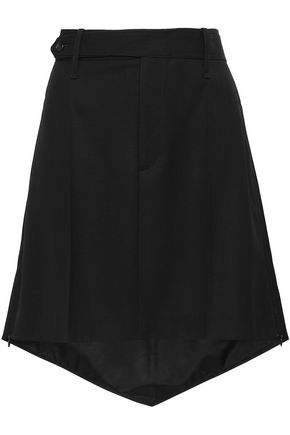 조셉 JOSEPH Asymmetric wool-canvas mini skirt,Black