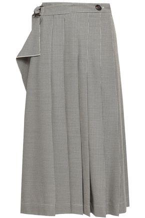 조셉 JOSEPH Checked woven midi wrap skirt,Beige