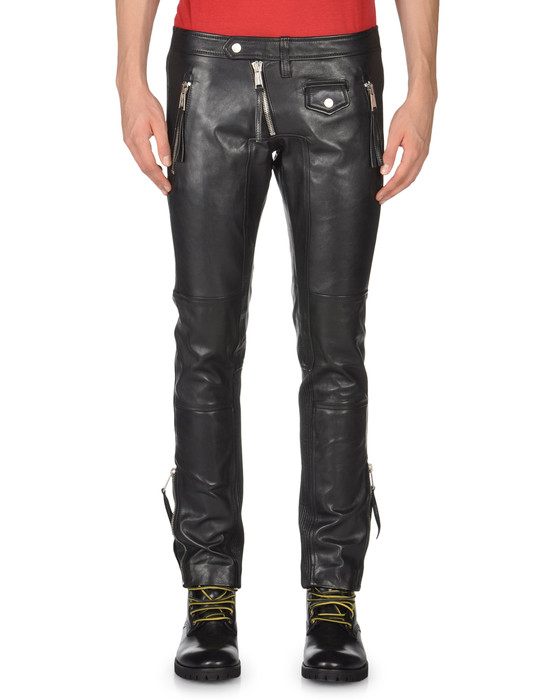 dsquared2 pantalon cuir pour homme boutique en ligne officielle. Black Bedroom Furniture Sets. Home Design Ideas