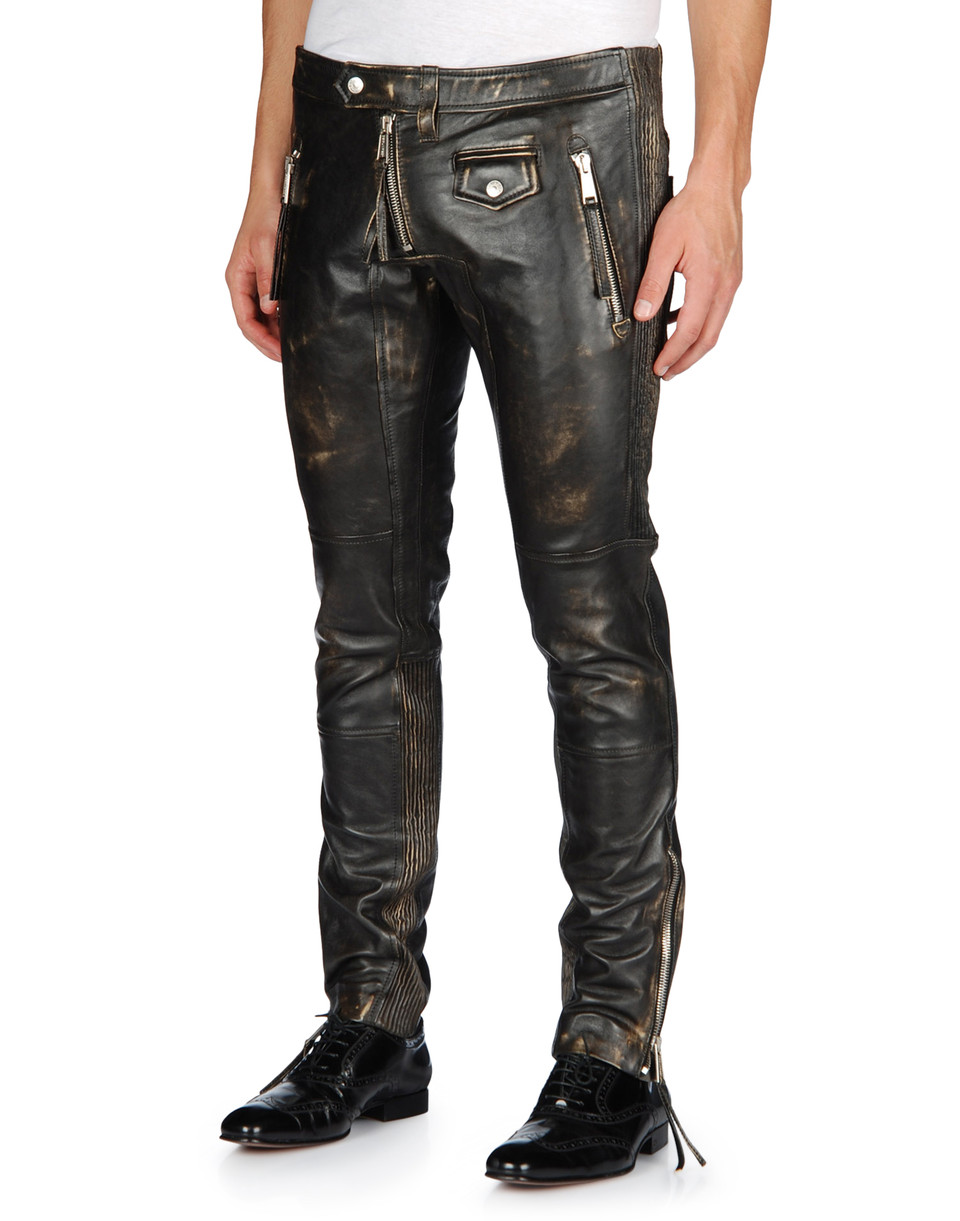 Dsquared2 Leather Pants For Men Official Store