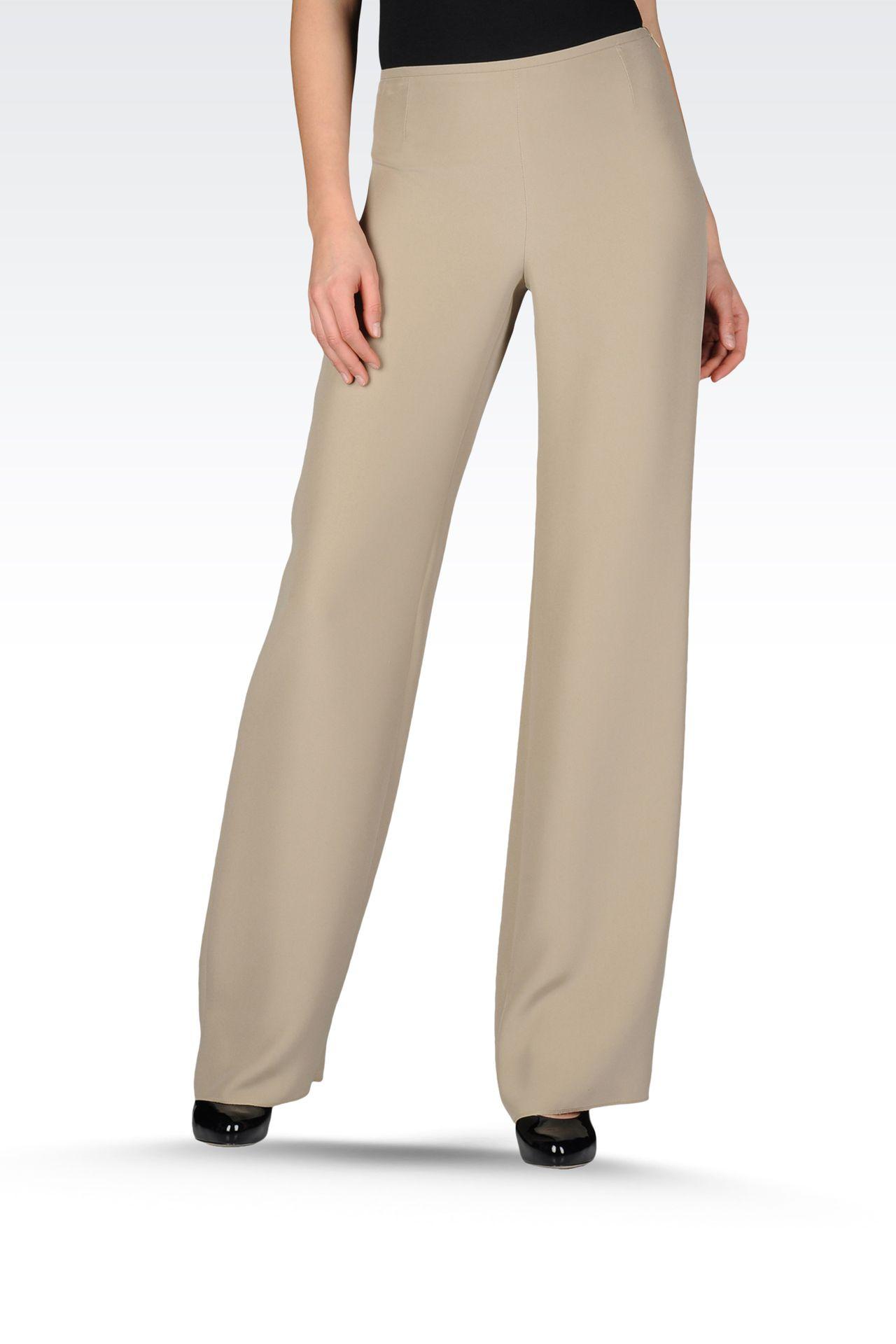 Pants: Wide-leg trousers Women by Armani - 0