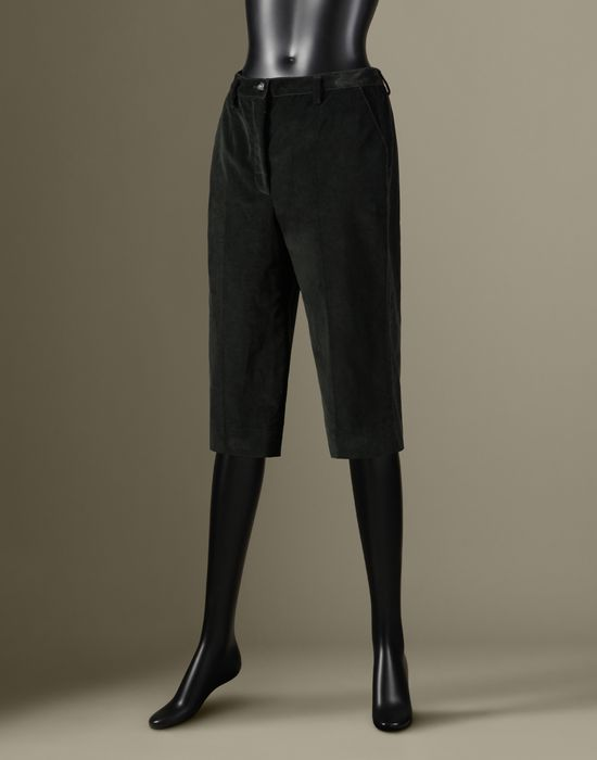 CROPPED CORDUROY TROUSERS - 3/4-length shorts - Dolce&Gabbana - Winter 2016