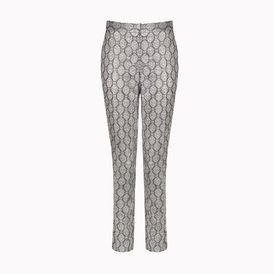 STELLA McCARTNEY, Tapered, Silver Silk Lurex Alfred Trousers