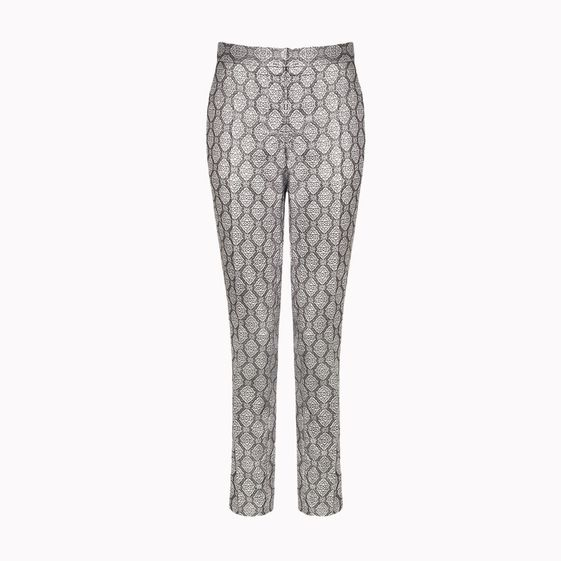 Stella McCartney, Pantaloni Alfred in Lurex e Seta Argento