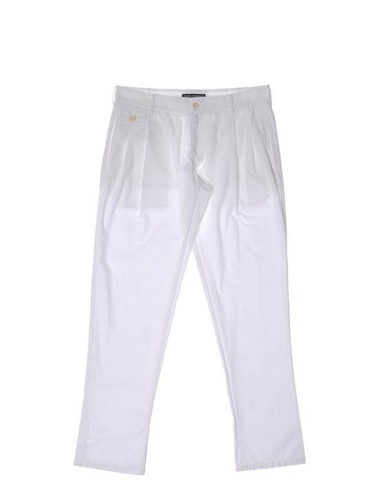 Классические брюки DOLCE & GABBANA. Цвет: белый