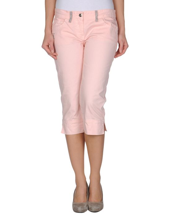 Джинсовые брюки-капри HUSKY. Цвет: розовый