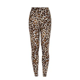 STELLA McCARTNEY, Stretto in fondo, Pantaloni Jogging con Stampa Leopardo