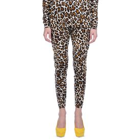 STELLA McCARTNEY, Chino, Jogginghose mit Leo-Print